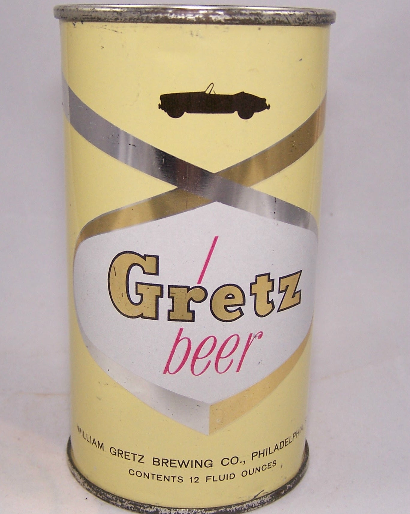 Gretz Beer G.B Fleet Car, MGA Convertible, (Red Letter) USBC 75-09, Grade 1/1+  Sold on 06/18/16