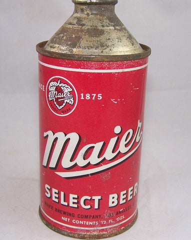 Maier Select Beer, USBC 173-12, Grade 1- Sold on 03/18/18