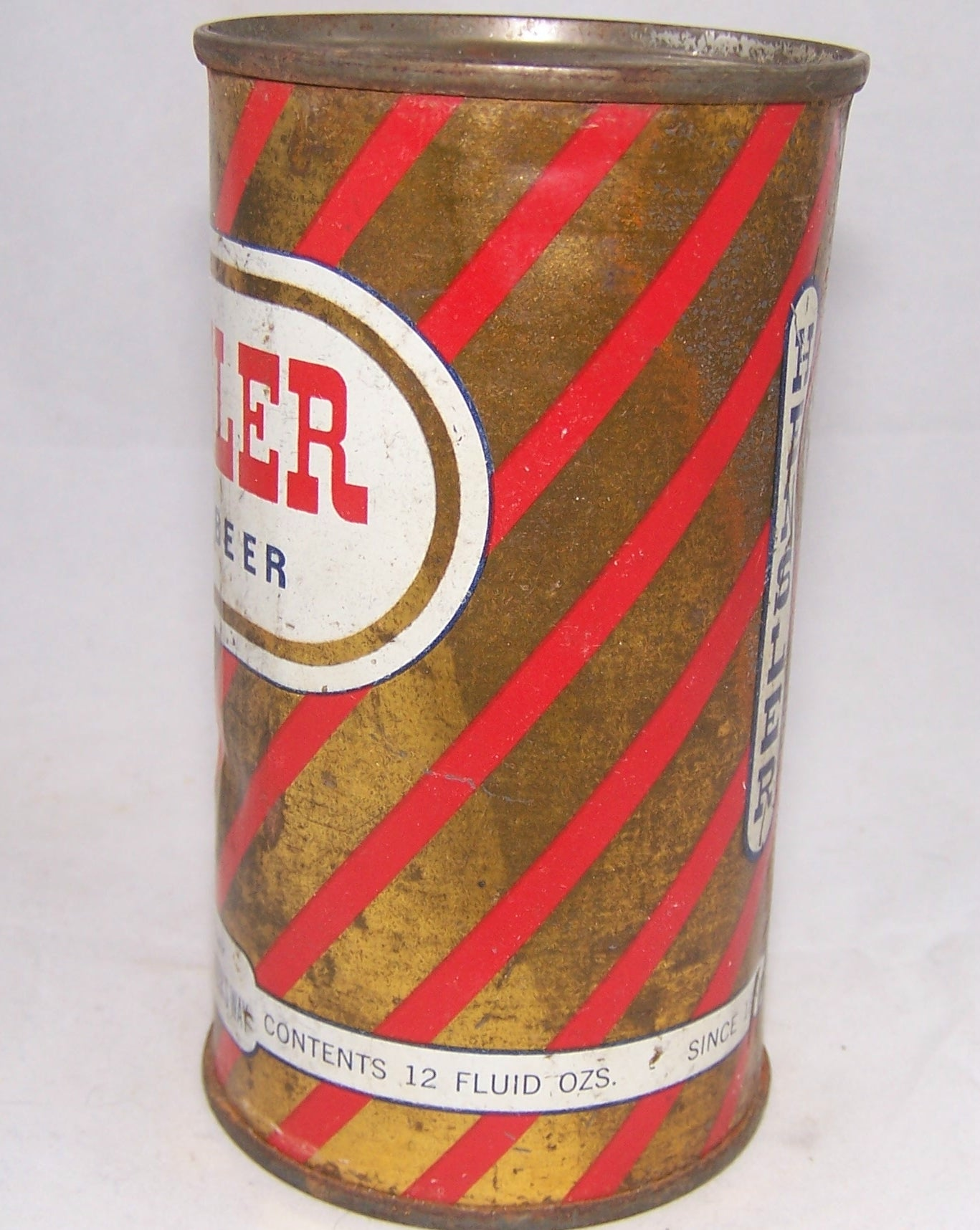 Hensler Light Beer. (Barber Pole) USBC 81-32, Grade 1-/2+
