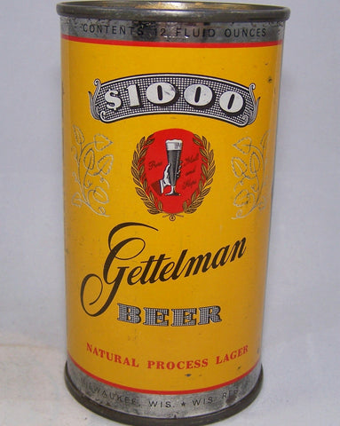 Gettelman $1000 Beer, (Silver Trim) USBC Like 109-11, Grade 1-