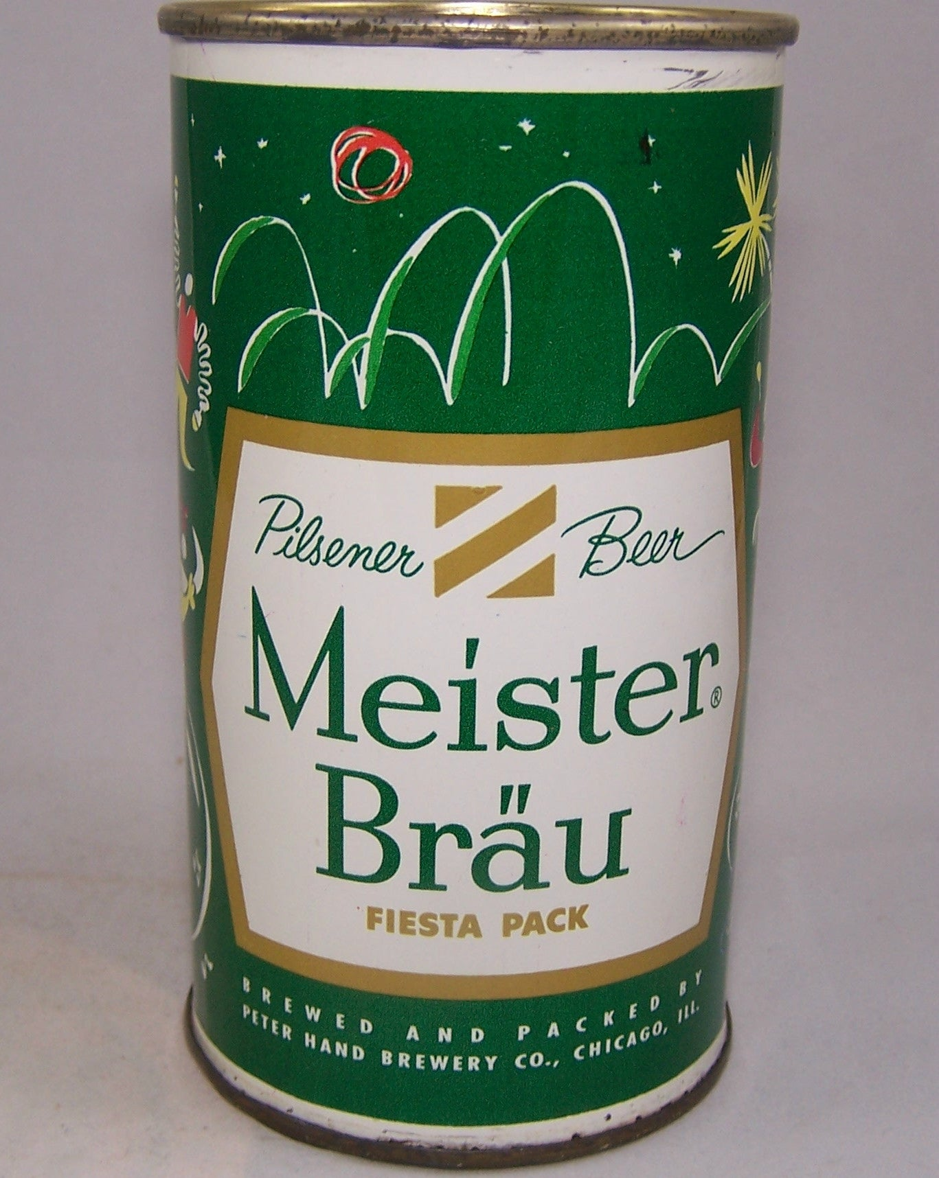 Meister Brau Beer, Country Can, (South America) USBC 97-13, Grade 1/1+  sold 6/18/16