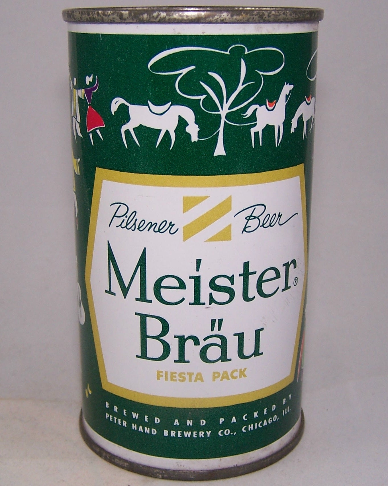Meister Brau Beer, Country Can, (Gypsies) USBC 97-21, Grade 1/ 1+ Sold on 10/24/15