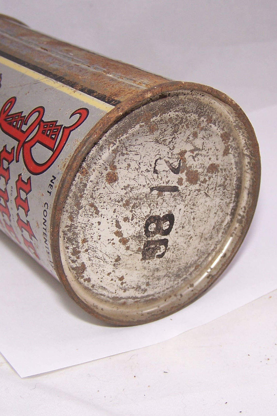Dutch Lunch Brand O.I Flat Top Beer Can, Grade 1-/2+