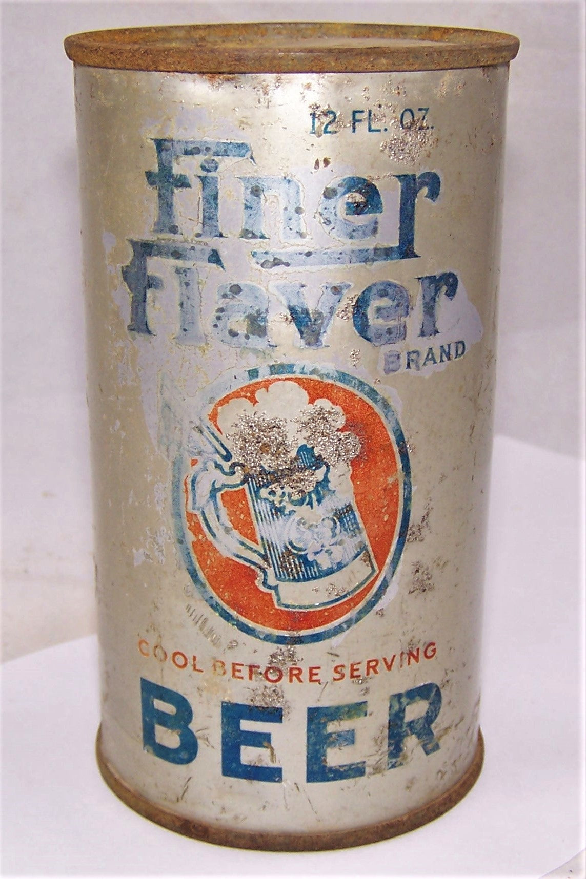 Very Rare Finer Flaver O.I Flat Top Beer Can, Grade 2 Monarch Brewing.