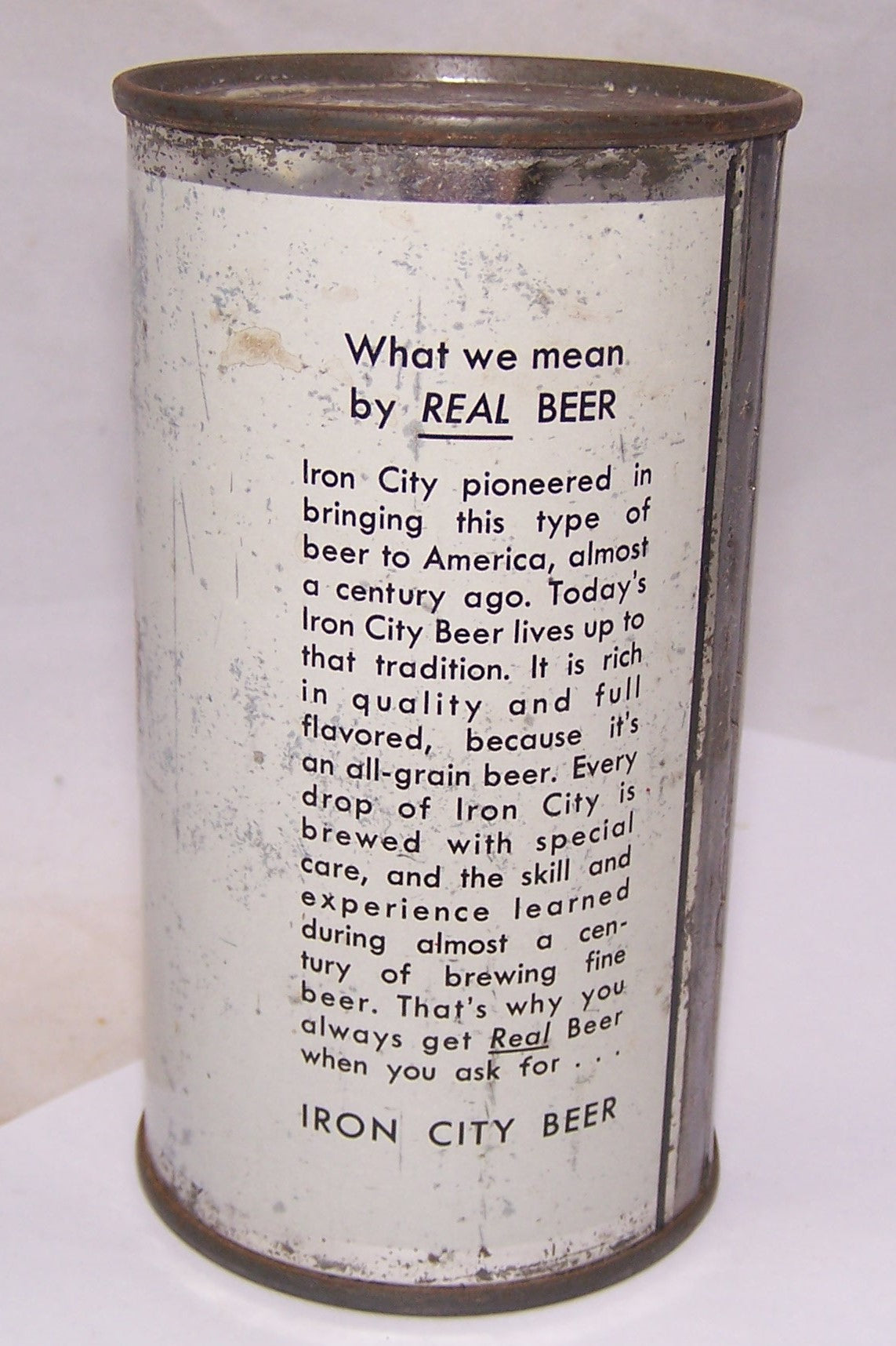 "Iron City ""The Real Beer"" Flat Top, Grade 2"