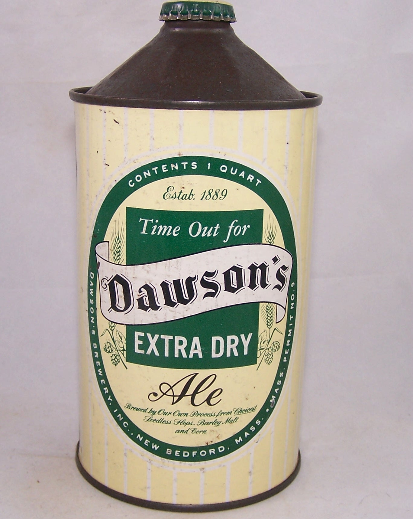 Dawson's Extra Dry Ale. USBC 206-16, Grade 1 Sold on 02/25/18