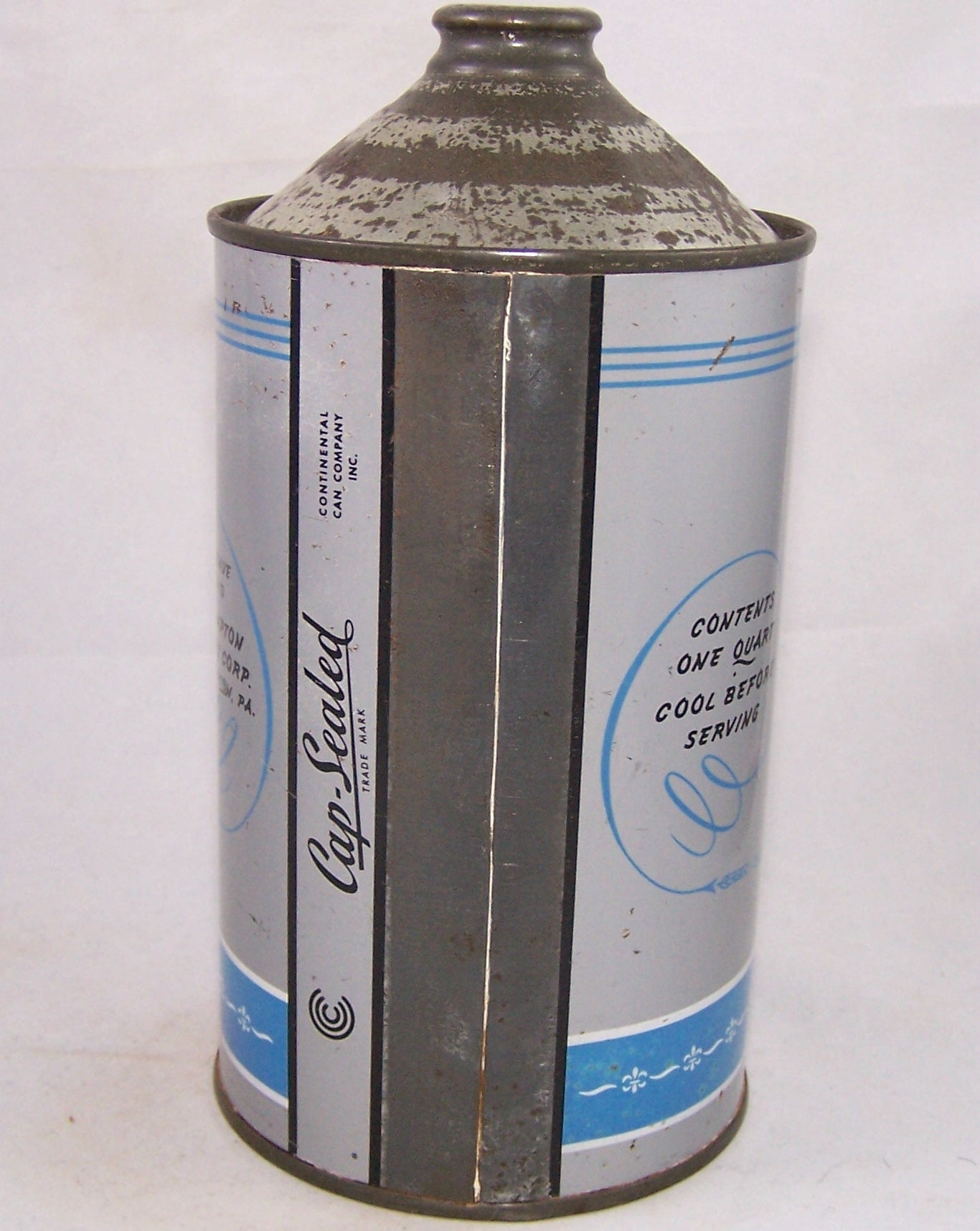 Blue Crest Beer, USBC 203-14, Grade 1/1+ Rolled Can Sold on 01/30/18