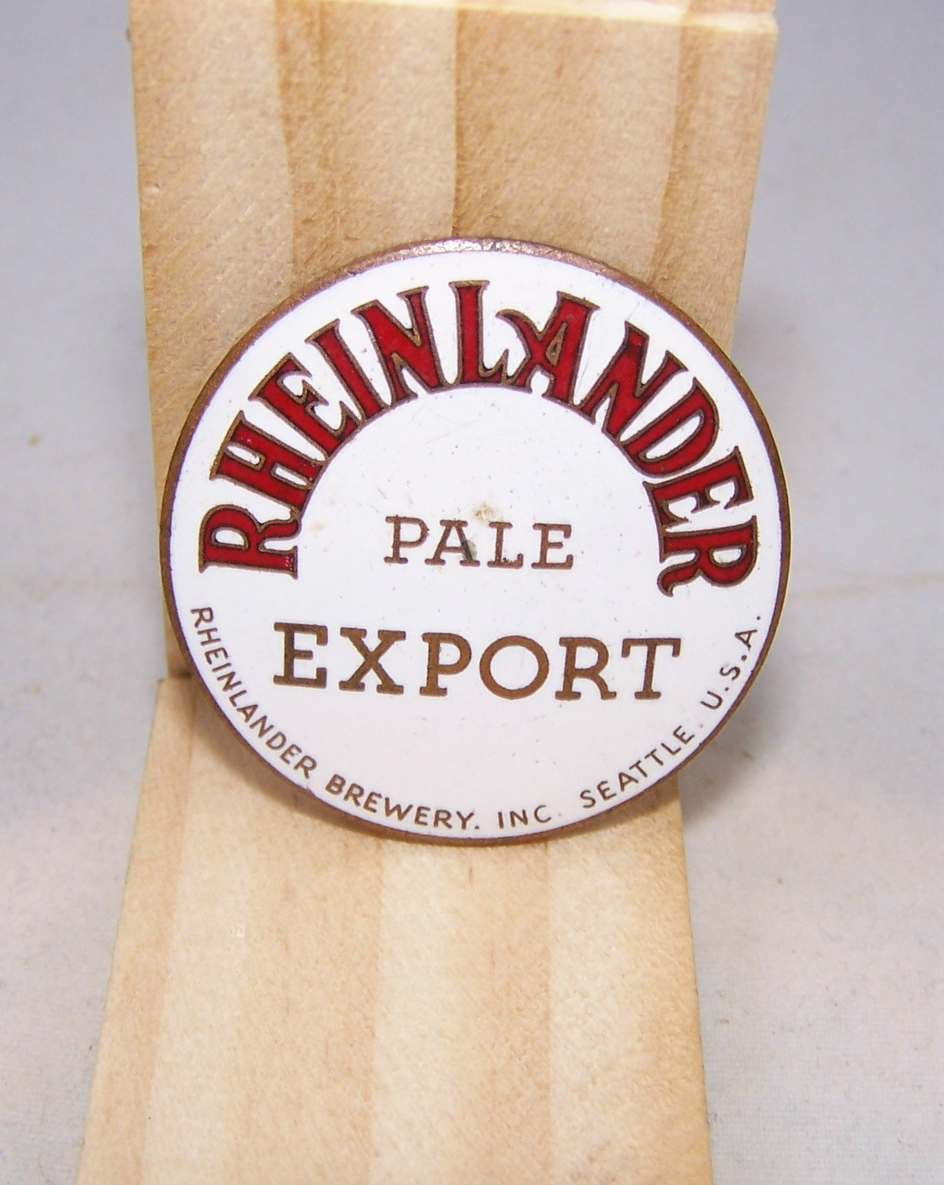 Rheinlander Pale Export, Ball Knob Insert, Tap Marker page 158-1819, Grade 9 Sold on 02/12/16