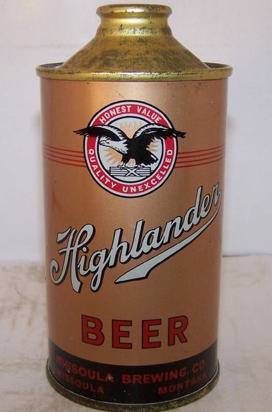 Highlander Beer Usbc 168 27 Missoula Brewing Co Grade 1 1