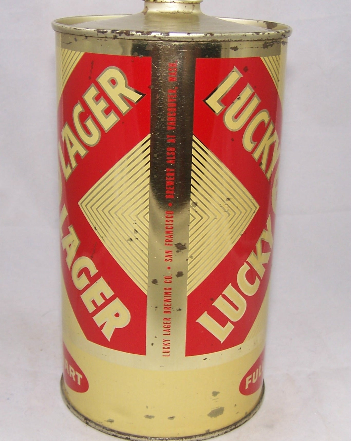 Lucky Lager Age Dated Beer, USBC 214-12, Grade 1/1+ Sold on 10/22/17