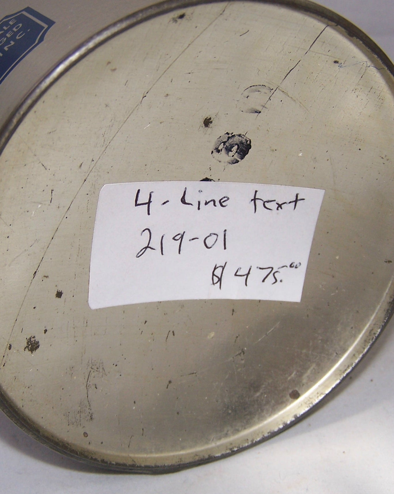 Schmidt's Tiger Cream Ale (4 Lines of Text) USBC 219-01, Grade 1/1+ Sold on 10/22/17