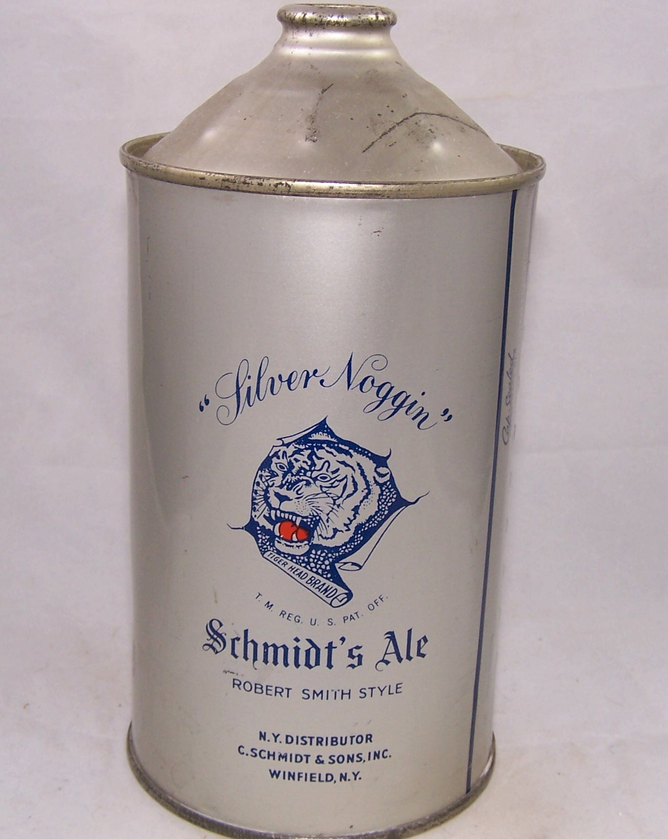 Schmidt's Tiger Brand Cream Ale, USBC 218-18, Grade 1/1+ to A1+ Sold on 12/01/17