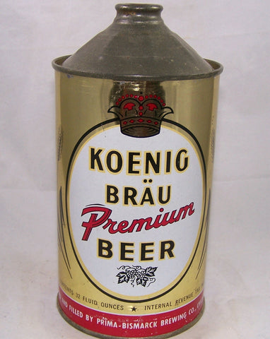 Koenig Brau Premium Beer, (Black Hops) USBC 213-02, Grade A1+ Sold on 10/22/17