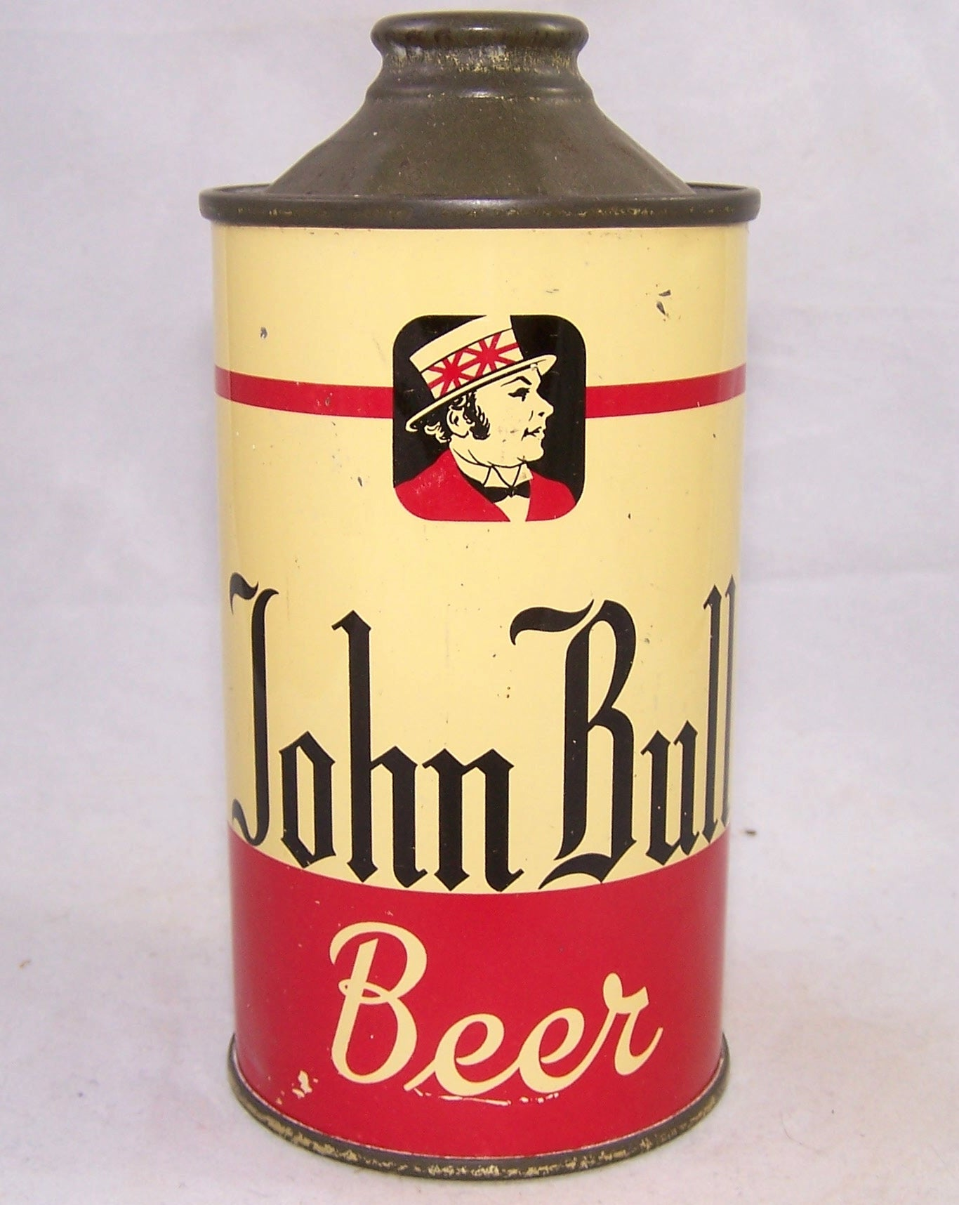 John Bull Beer Low Pro Cone top, USBC 170-16, Grade 1/1+ Sold on eBay 10/22/18