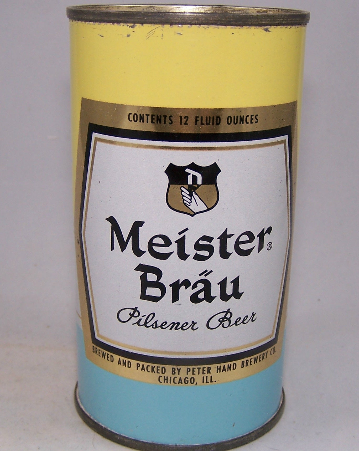 Meister Brau Pastel Set can, Art Decco, USBC 98-12, Grade 1/1- Sold on 12/07/15