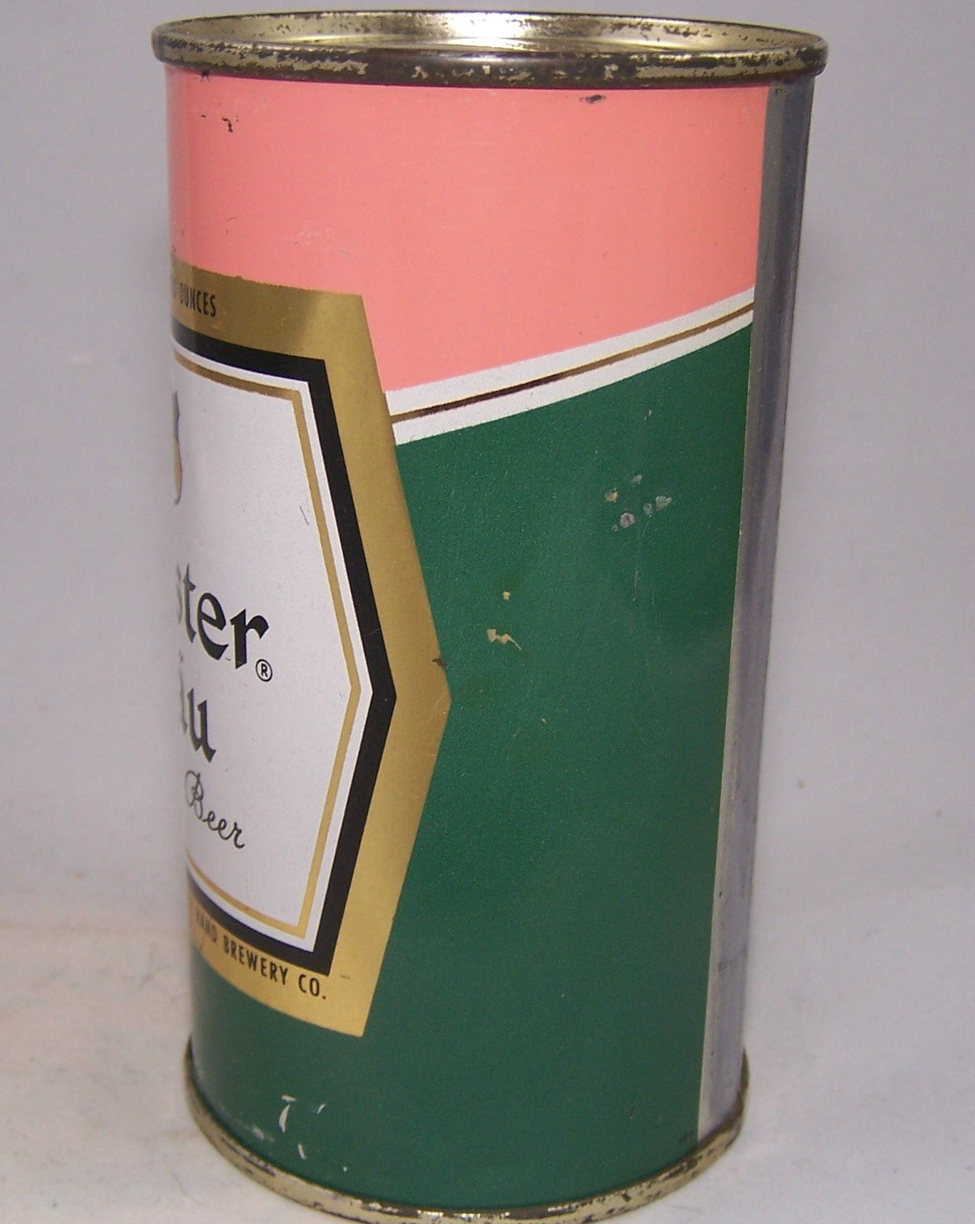Meister Brau Pastel Set can, Art Decco, USBC 98-11, Grade 1 Sold on 12/07/15