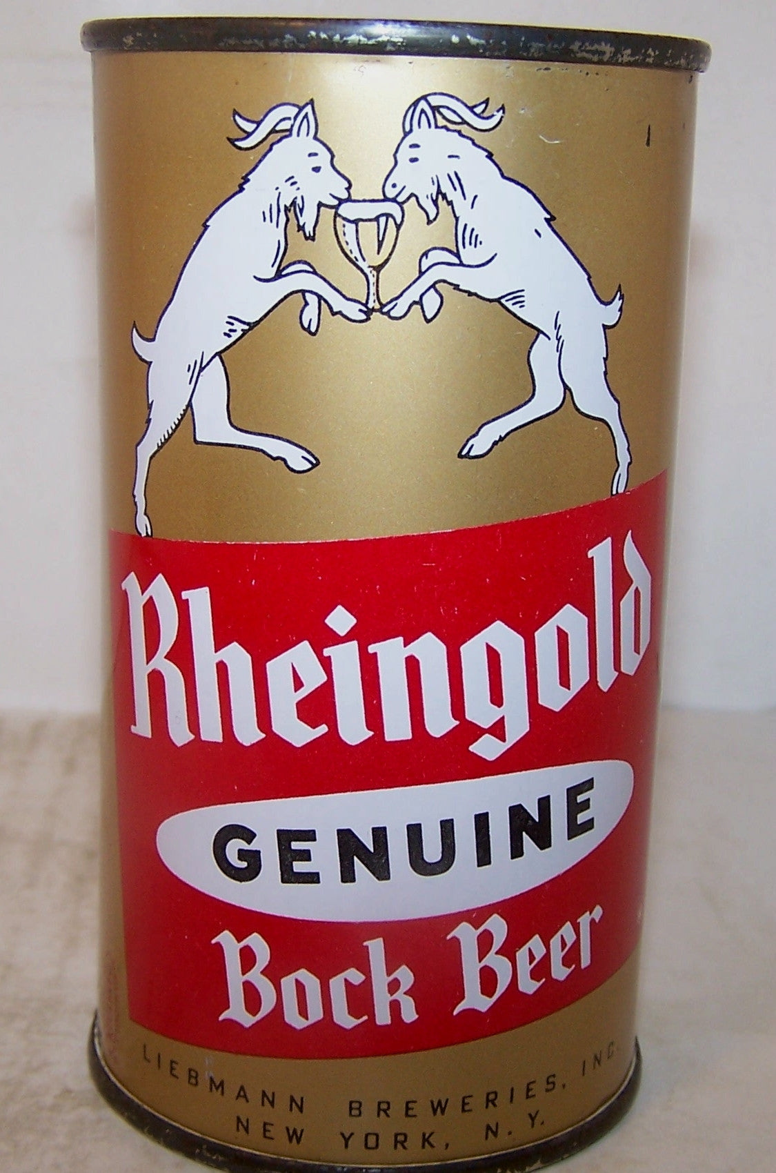 Rheingold Genuine Bock Beer, USBC 124-18, Grade 1/1+Sold 4/8/16