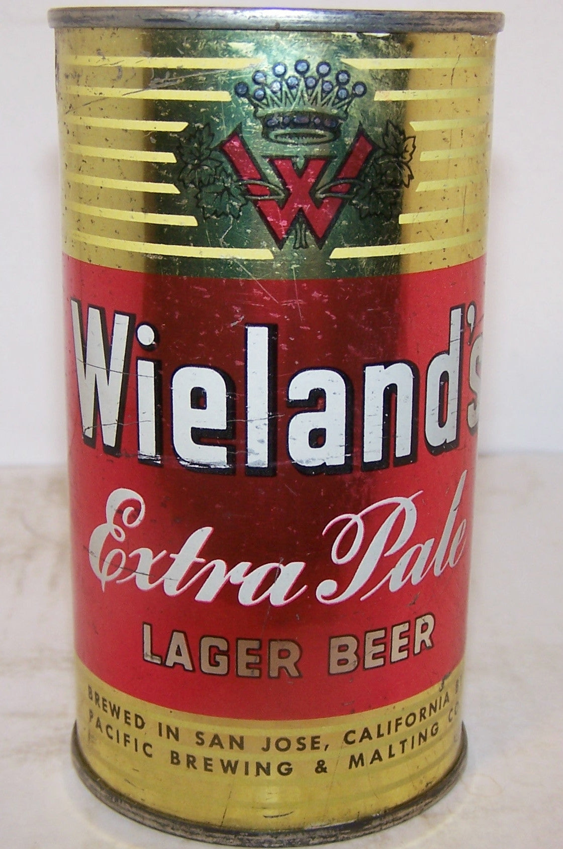Weiland's Extra Pale beer, USBC 146-1, rolled can, grade 1- Sold on 04/11/18