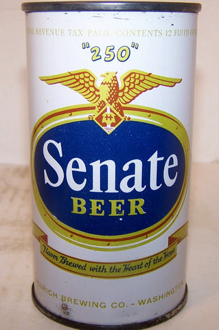 "Senate ""250"" Beer, USBC 132-21, original, grade 1/1- Sold on 05/26/18"
