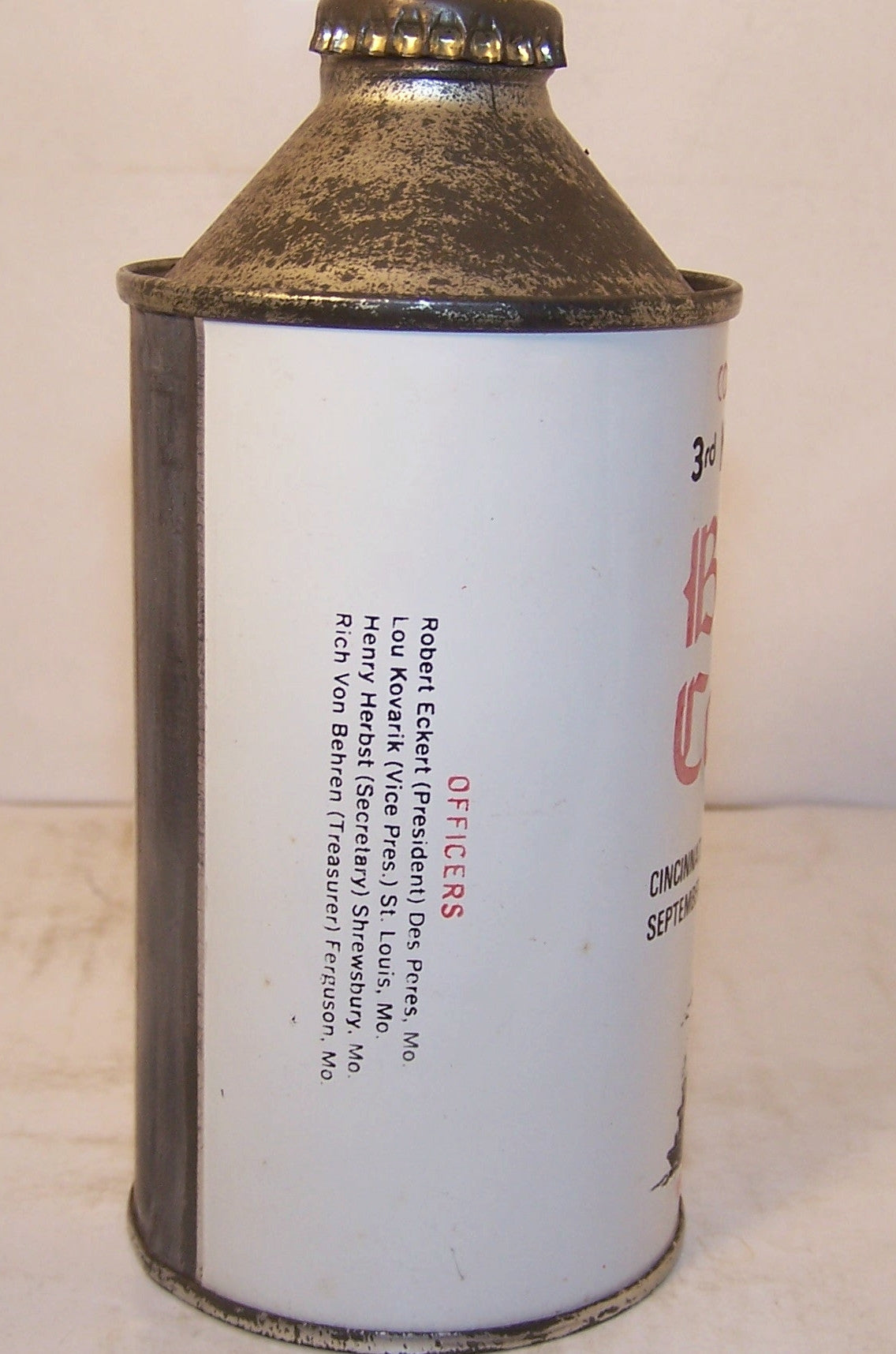 3rd National Canvention Beer Can Collectors of America Cinci Ohio Sold on 09/15/17