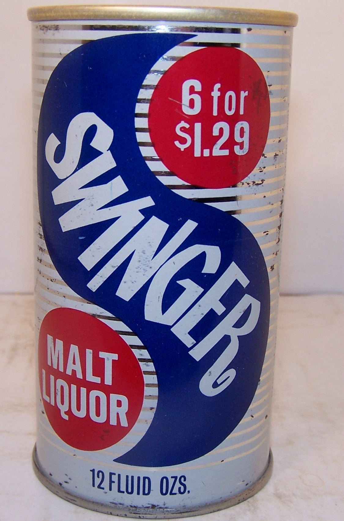 Swinger Malt Liquor, 6 for $1.29, USBC II 129-28 grade 1- Sold 2/12/15