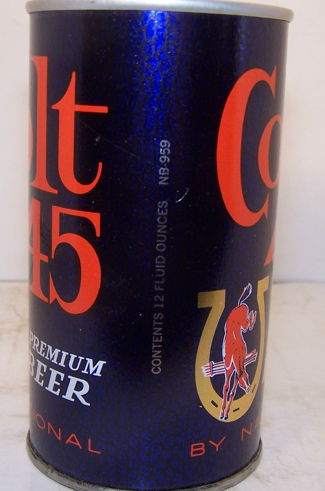 Colt 45 premium beer, USBC II 229-33, rolled test can, grade 1/1+ Sold on 02/03/17