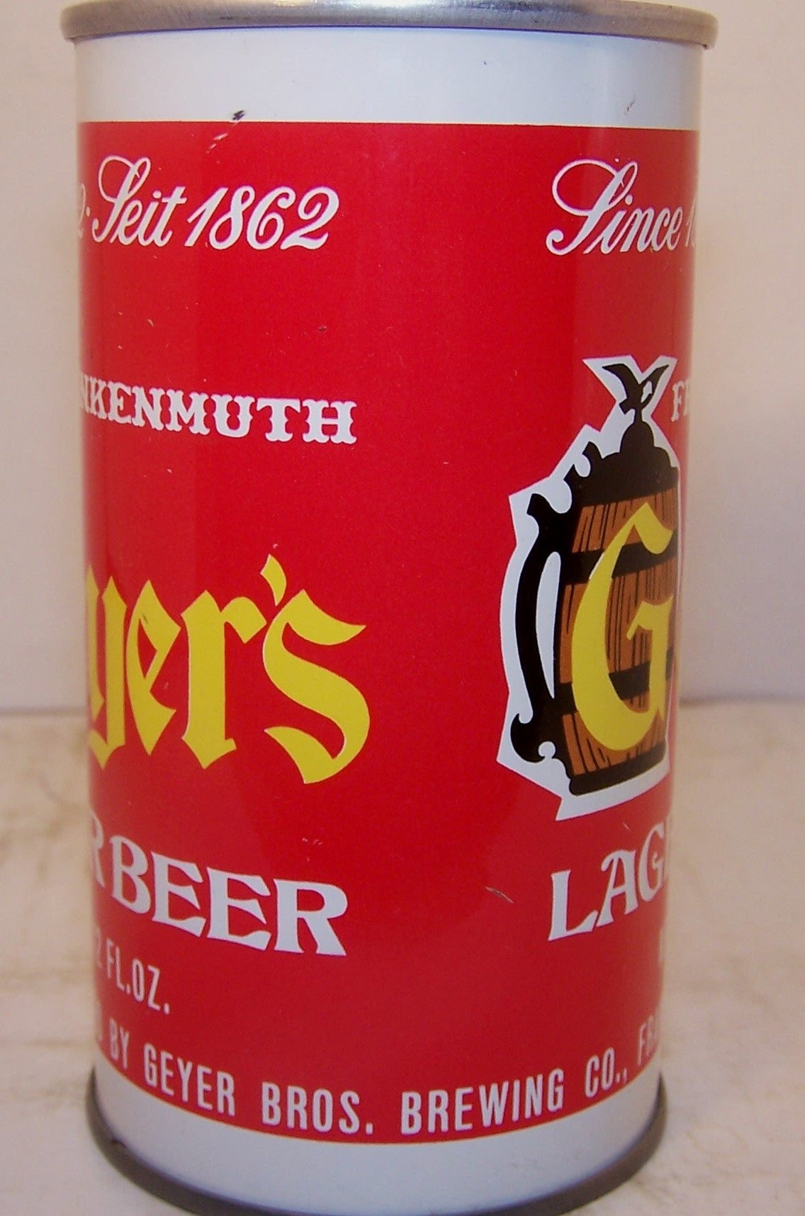 Geyer's Lager beer, USBC II 68-10 Grade 1/1+ Sold 1/16/16