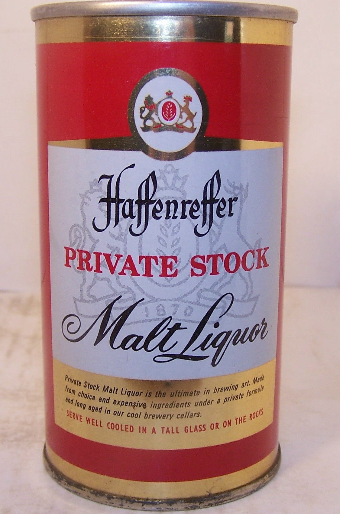 Haffenreffer Private Stock Malt Liquor, USBC II 72-2 grade 1/1+ Sold on 9/1/15