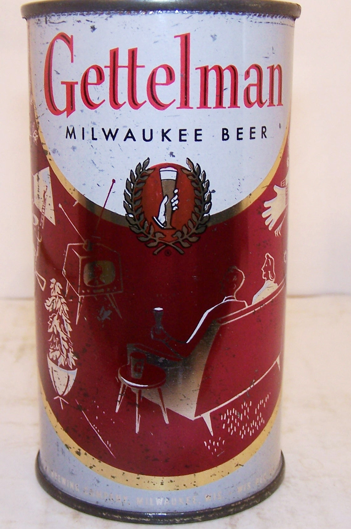 "Gettelman ""BBQ & TV"" Beer, USBC 69-9, Grade 1- Sold 1/22/15"