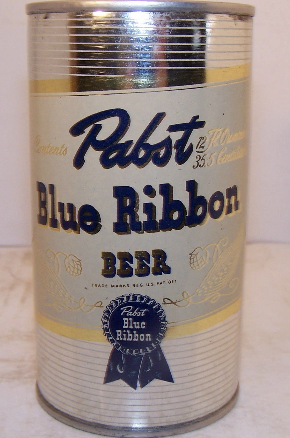 Pabst Blue Ribbon (withdrawn free) USBC 111-26,  Grade 1/ 1+  Sold on 09/02/16