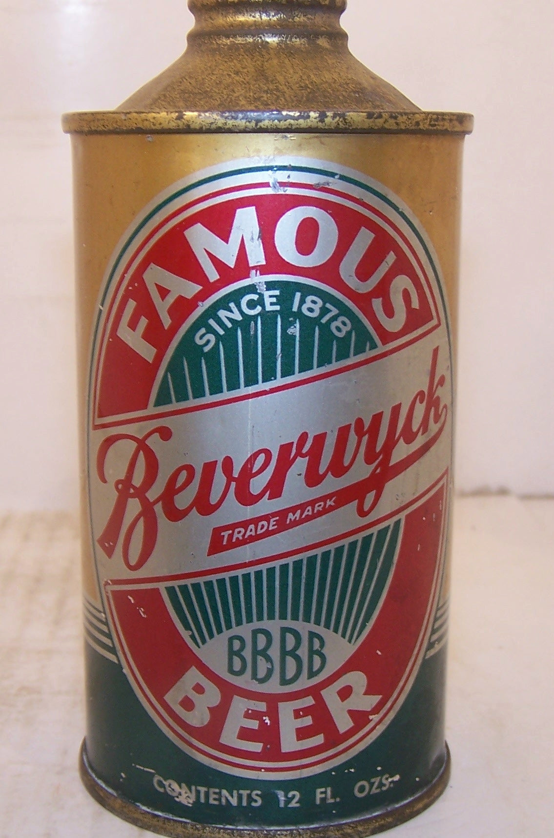 Beverwyck Famous Beer, USBC 152-11 Grade 1/1- Traded on 2/22/15
