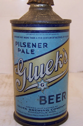Gluek's Pilsener Pale Beer USBC 165-6 Grade 1- Sold on 11/23/14