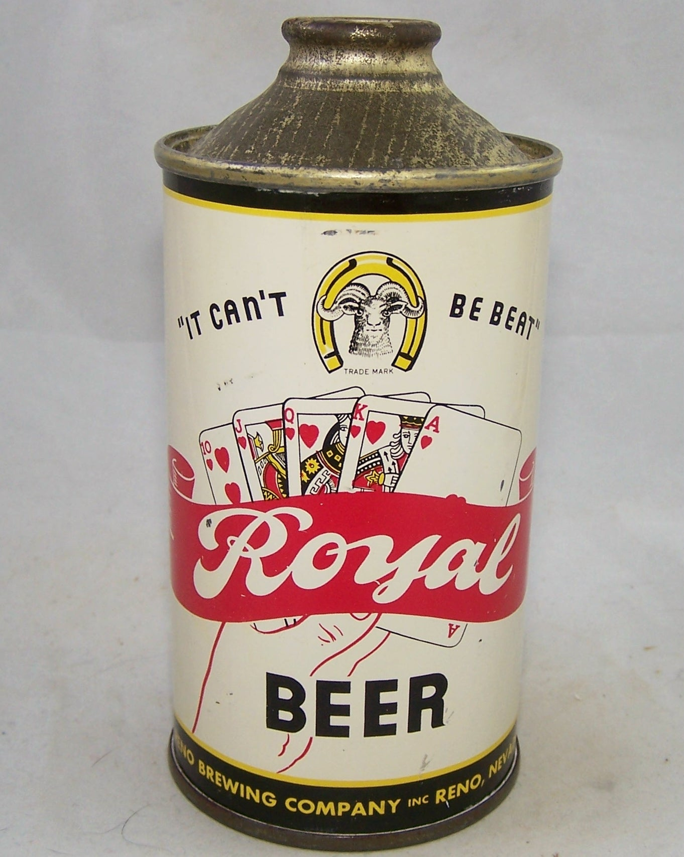 "Royal Beer ""It Can't Be Beat"" USBC 182-12, Grade 1 to 1/1+ Sold on 04/14/18"