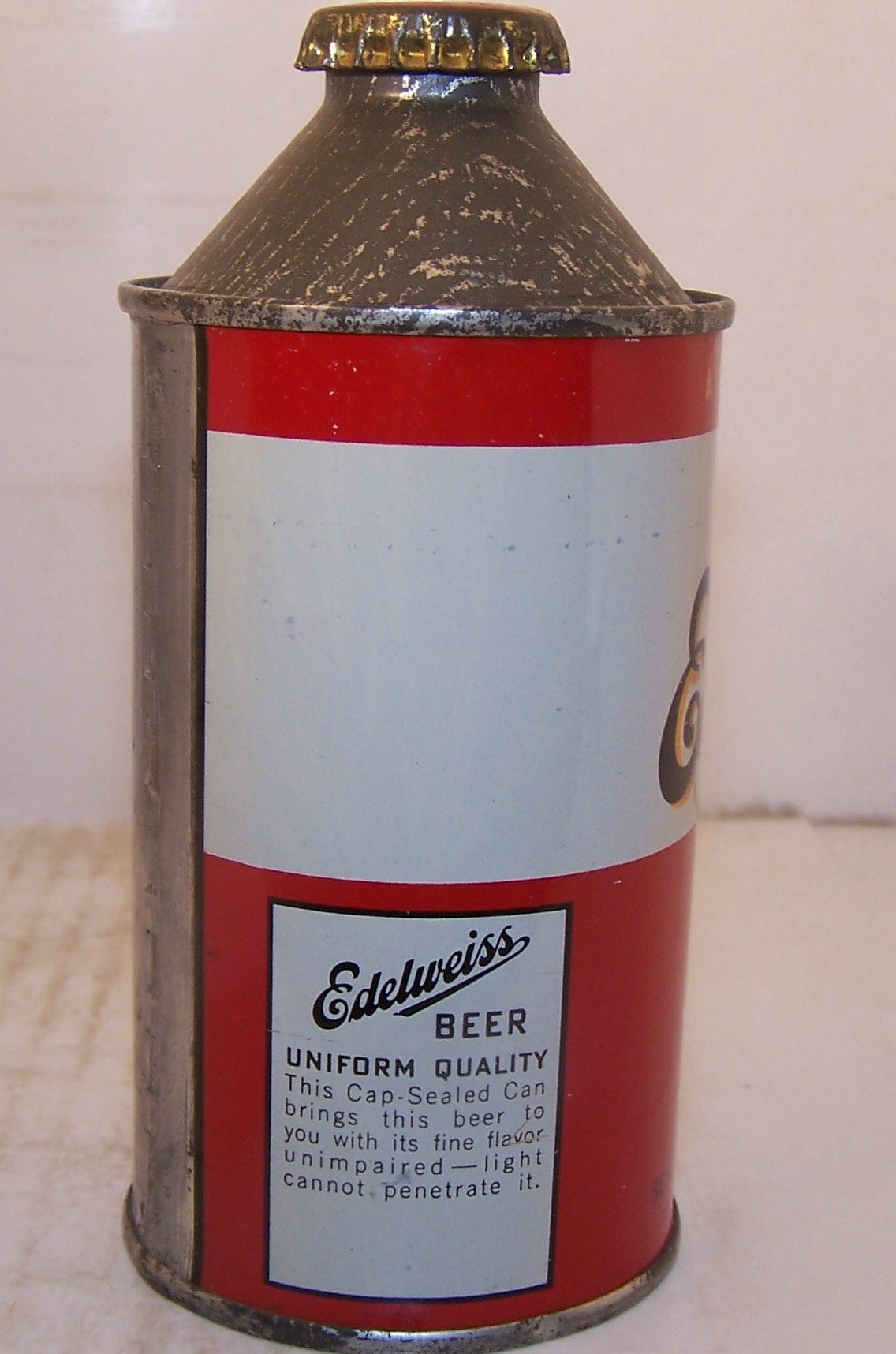 Edelweiss Secret Brew Light Beer, USBC 160-28, Grade 1 Sold 11/28/14