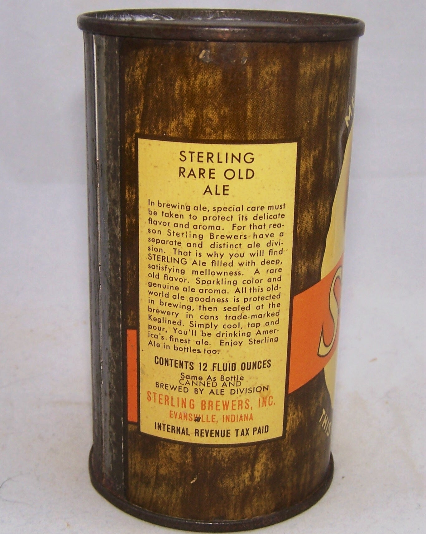 "Sterling Ale ""Mellowed By Age"" Lilek # 771, Grade 1- Sold on 03/03/18"