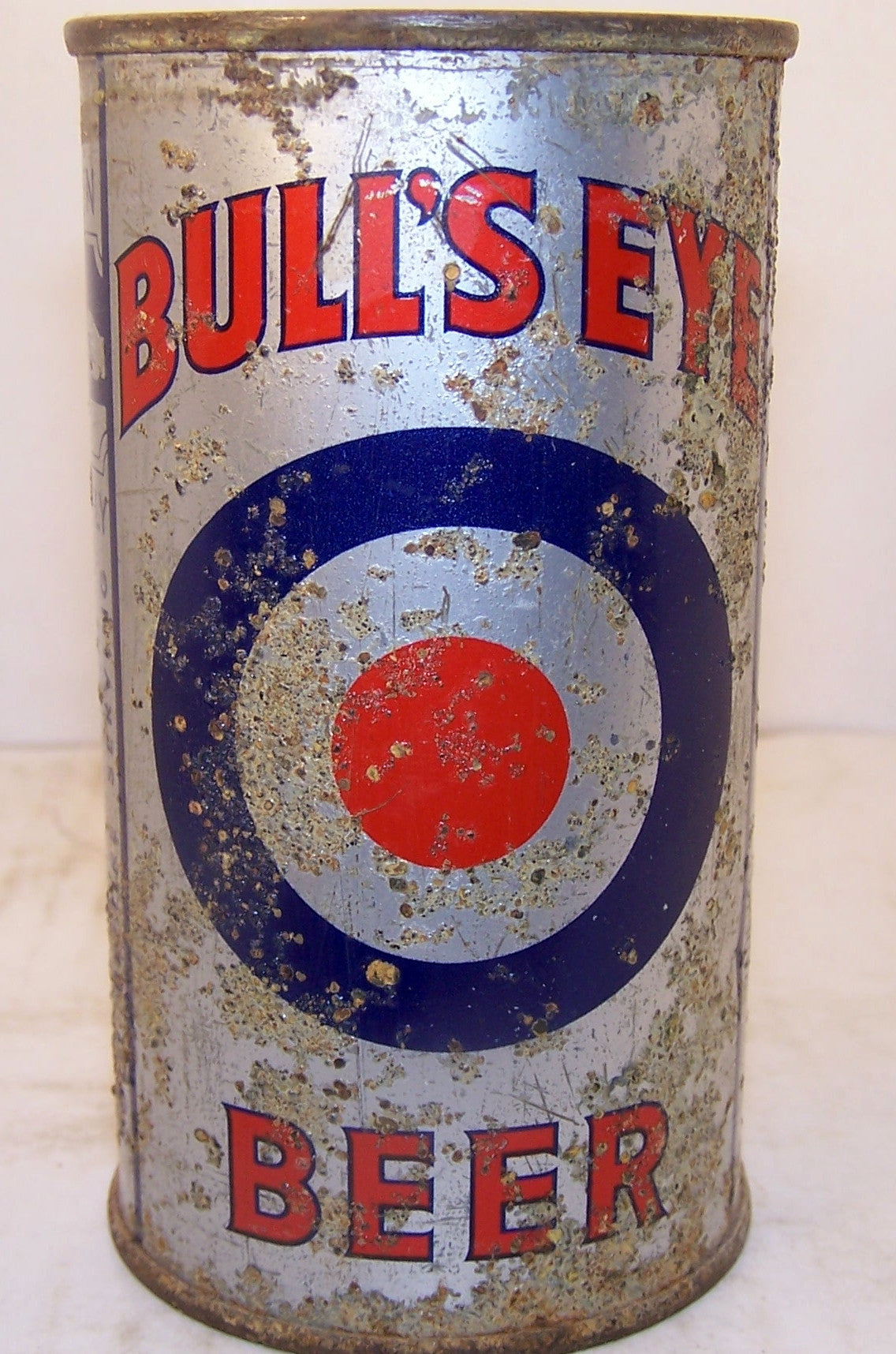 Bull's Eye Beer, USBC 46-6 pit can Sold 11/21/14