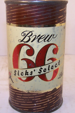 Sick's Select Brew 66 Beer, usbc 133-14 Grade 1- Sold on 3/18/15