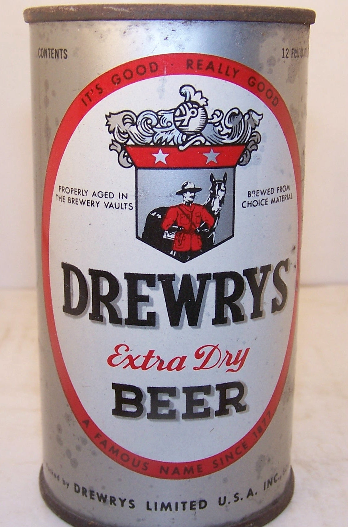 Drewrys extra dry beer, USBC 56-2, Grade 1- Sold 4/1/15