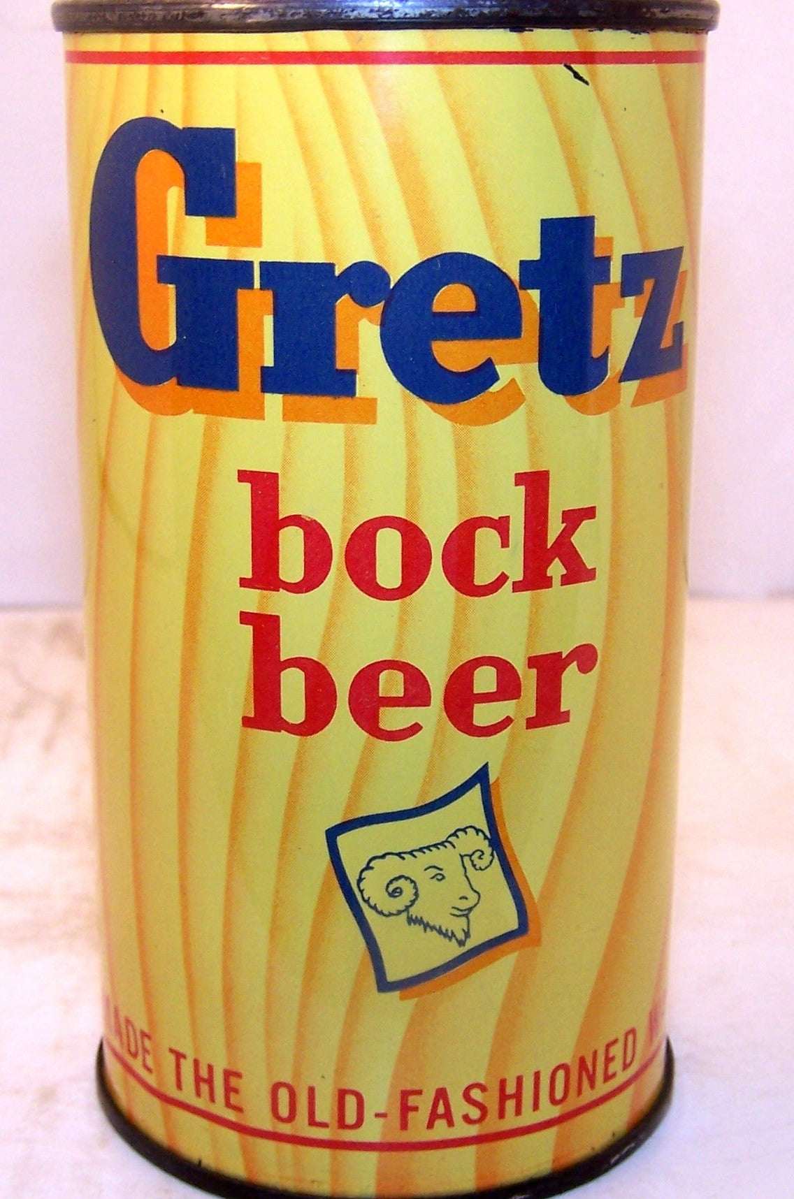 Gretz Bock Beer, USBC 76-9, Rare can, Grade 1/1+ Sold 12/13/15