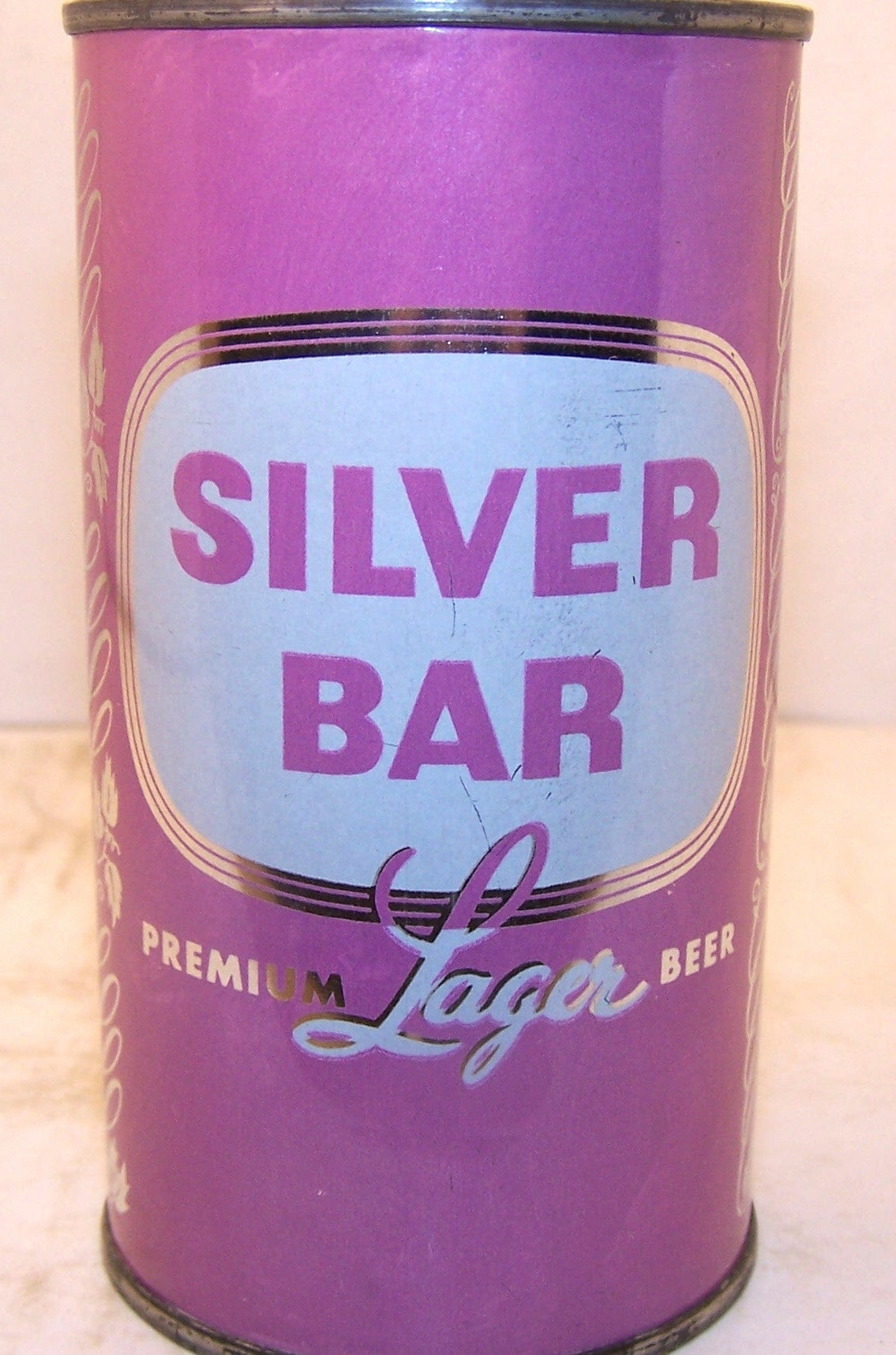 Silver Bar premium Lager beer (pink set can) USBC 134-8, Grade 1 Traded 4/11/15