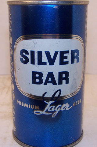 Silver Bar premium Lager Beer, (Blue set can) USBC 134-4 Grade 1/1-