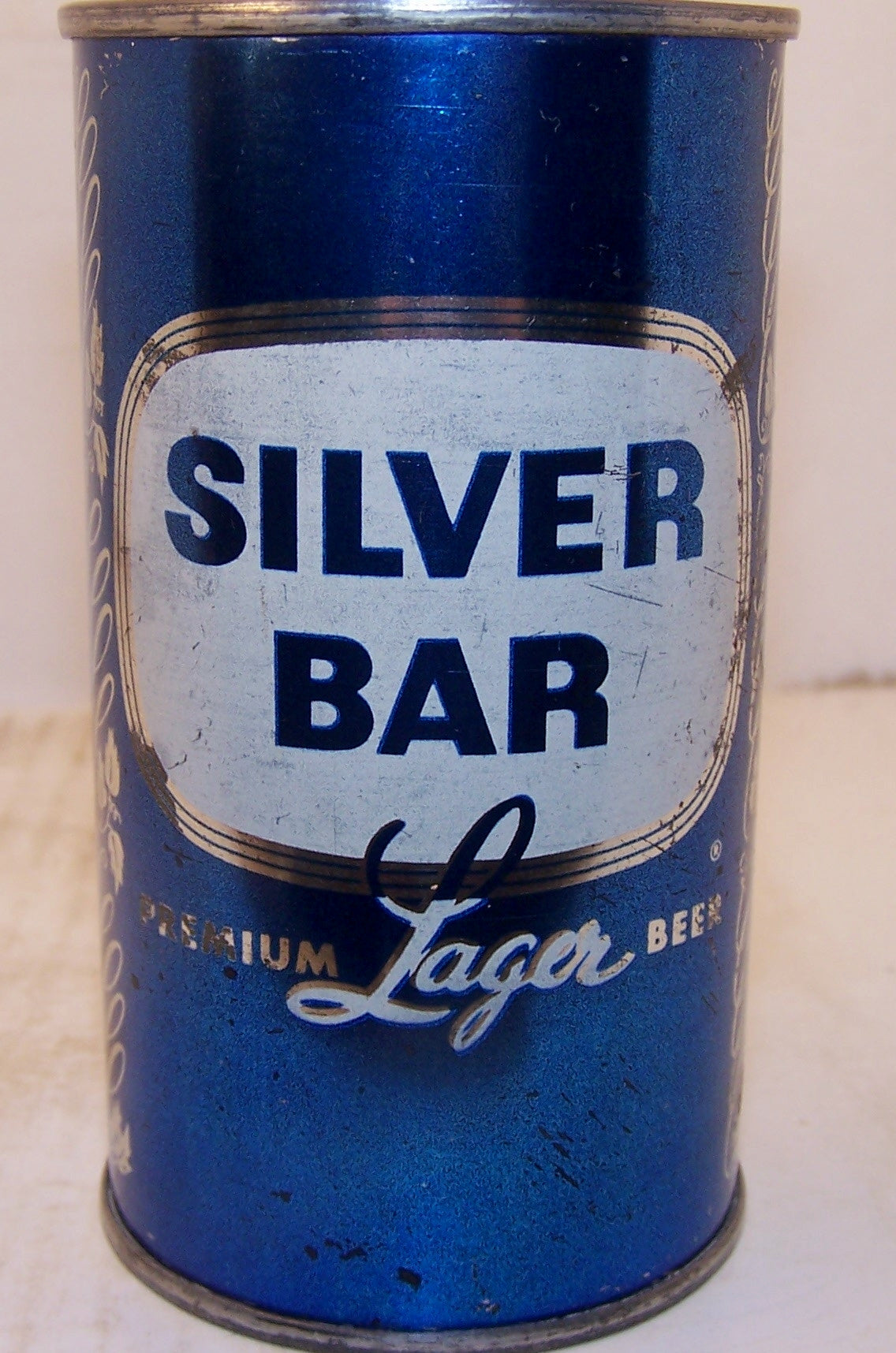 Silver Bar premium Lager Beer, (Blue set can) USBC 134-4 Grade 1/1- Sold on 09/04/17