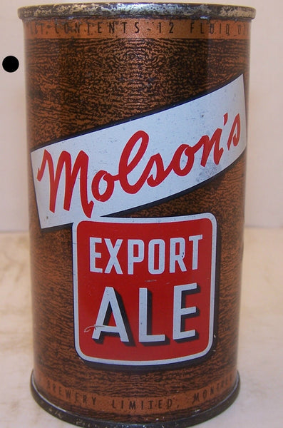 Molson's Export Ale, all original can, Grade 1 to 1/1