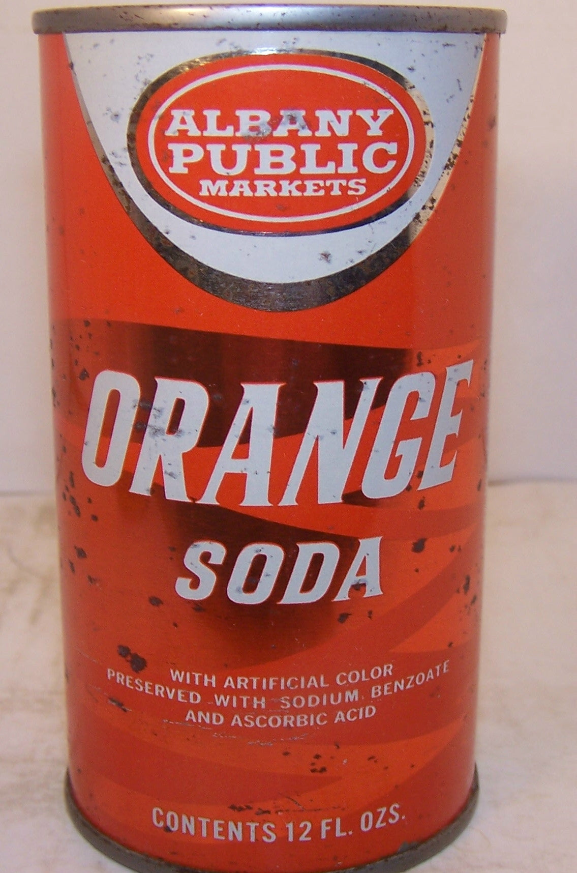 Albany Public Orange Soda, 2007 soda book page 12, Grade 1/1- Sold 1/3/15