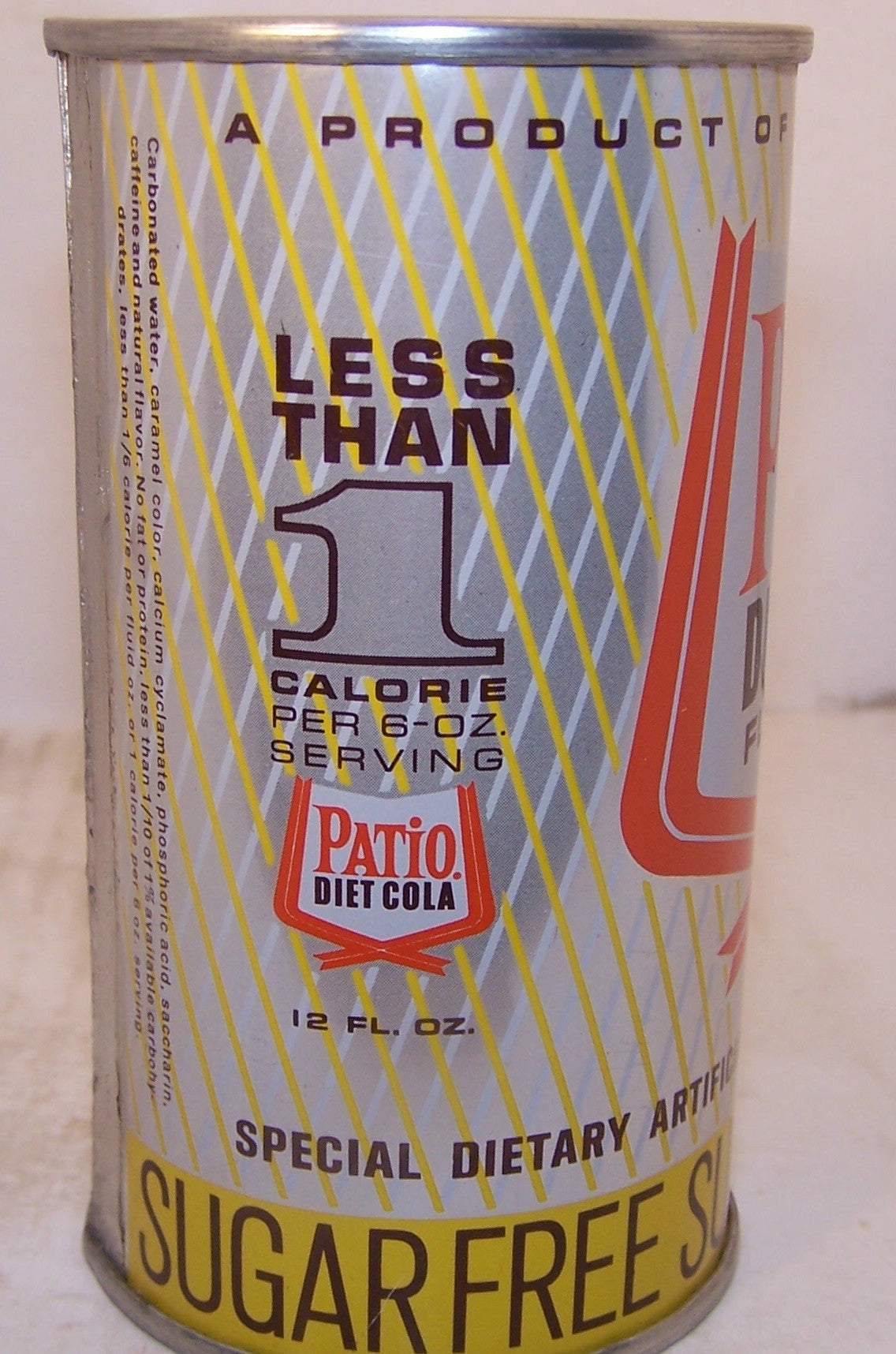Patio Diet Cola, 2007 soda book page #91 Grade A1+ Sold 3/27/15