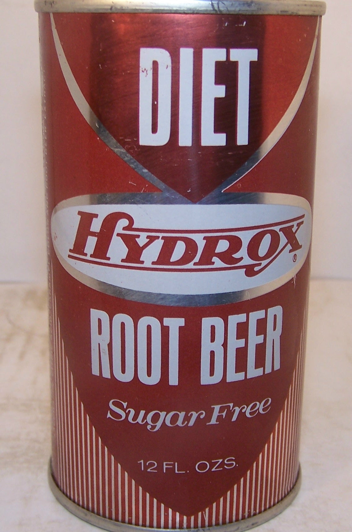Hydrox Diet Root Beer, 2007 soda book page 73, Grade 1/1+