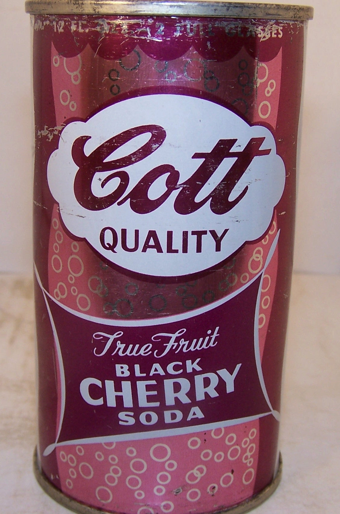 Cott Black Cherry soda, 2007 soda book page 41, Grade 1-