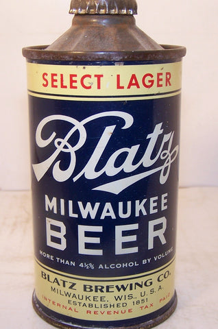 Blatz Milwaukee Beer, USBC 153-6, flat bottom, Grade 1 Sold on 06/07/16