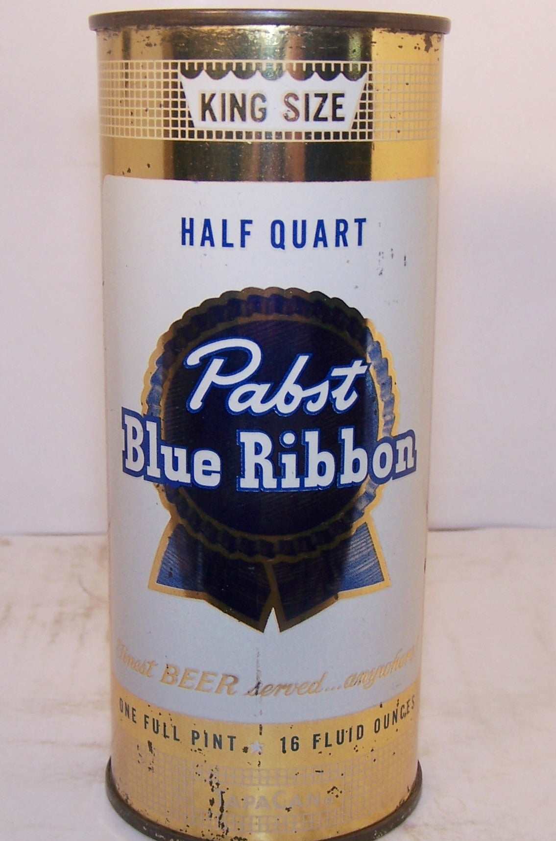 Pabst Blue Ribbon king size, USBC 233-24 Grade 1 Sold on 2/11/15
