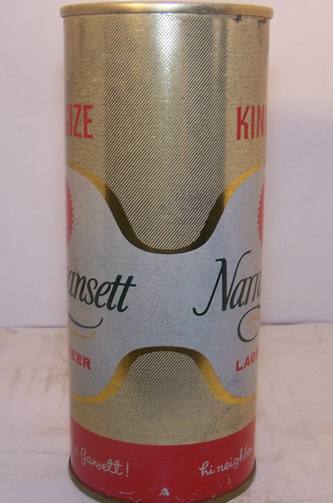 Narragansett Lager Beer king size, USBC II 157-14 Grade 1- Sold on 2/11/15